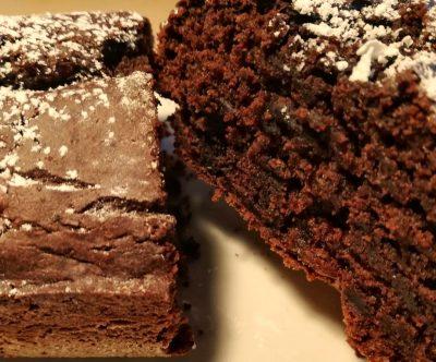 Fetta torta cioccolato